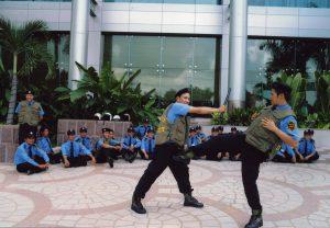 bồi dưỡng kỹ năng tự vệ cơ bản cho bảo vệ tại mục tiêu